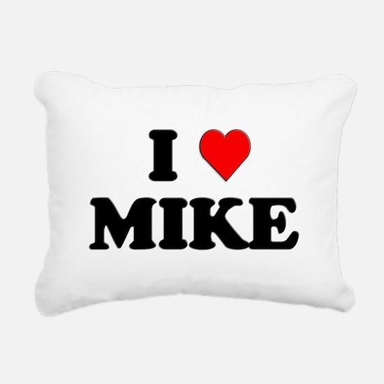 I Love Mike Rectangular Canvas Pillow
