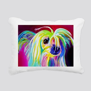 Chinese Crested #2 Rectangular Canvas Pillow