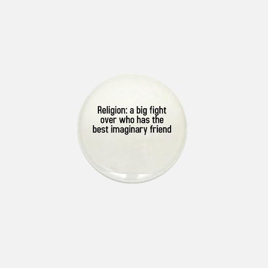 Religion: a big fight Mini Button