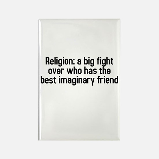 Religion: a big fight Rectangle Magnet