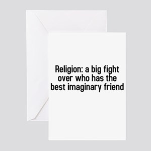 Religion: a big fight Greeting Cards (Pk of 10)