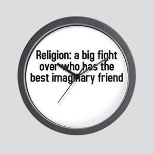 Religion: a big fight Wall Clock