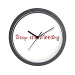 Stop the Bleeding Wall Clock