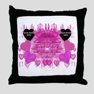 SisterHeart Throw Pillow