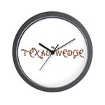Texas Wedge Wall Clock