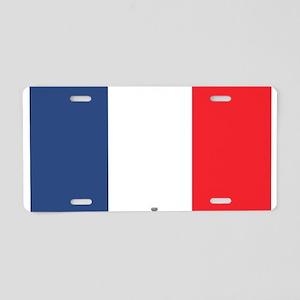 Flag Red White Blue Aluminum License Plate