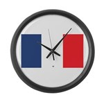 Flag Red White Blue Large Wall Clock