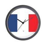 Flag Red White Blue Wall Clock