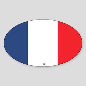 Flag Red White Blue Sticker (Oval)