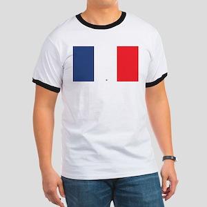 Flag Red White Blue Ringer T