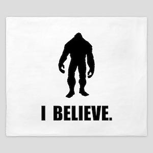 I Believe In Bigfoot King Duvet