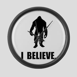 I Believe In Bigfoot Large Wall Clock