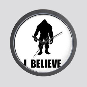 I Believe In Bigfoot Wall Clock