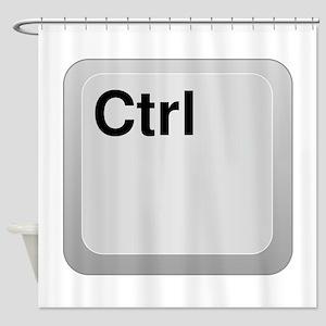 Keyboard Control Key Shower Curtain