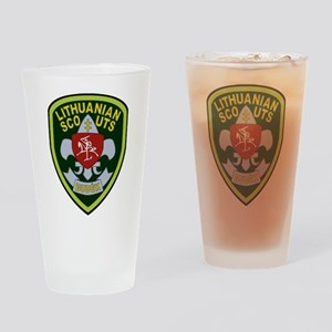 Lithuanian Scout Badge Drinking Glass