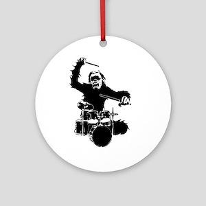 Drumming Gorilla Ornament (Round)