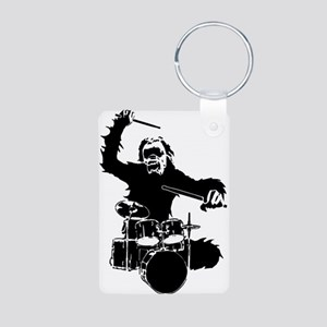 Drumming Gorilla Aluminum Photo Keychain
