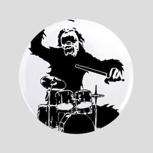 """Drumming Gorilla 3.5"""" Button"""