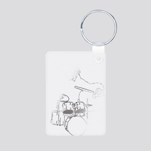 White Gorilla Aluminum Photo Keychain