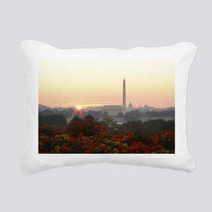 All Three Sunrise Rectangular Canvas Pillow