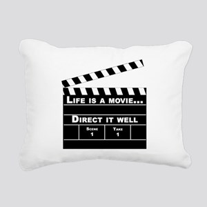life is a movie - Rectangular Canvas Pillow