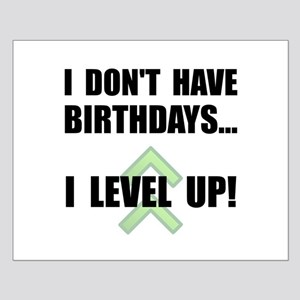 Level Up Birthday Small Poster