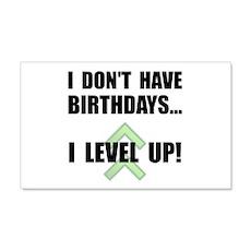Level Up Birthday Wall Sticker