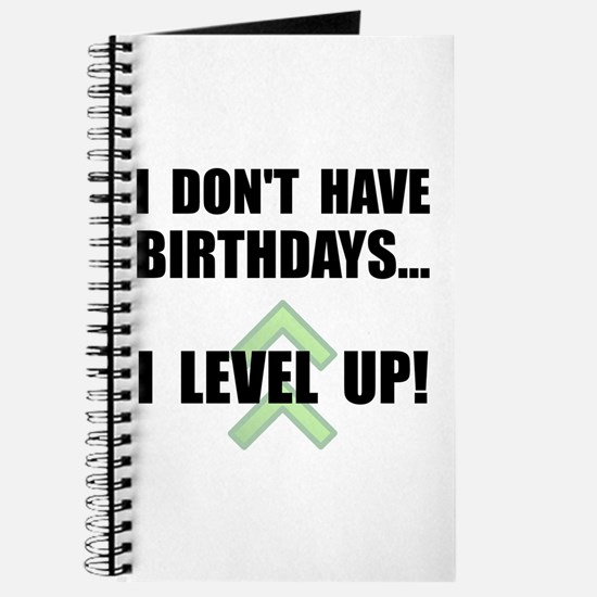 Level Up Birthday Journal