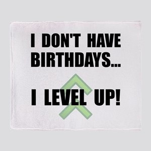 Level Up Birthday Throw Blanket
