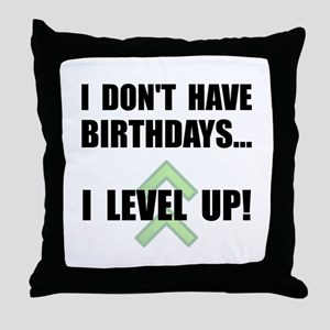 Level Up Birthday Throw Pillow