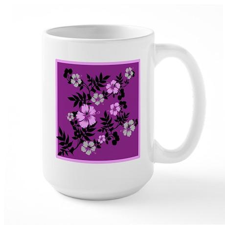 Just For Fun Flowers In Purple Large Mug