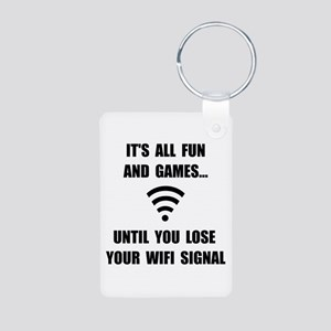 Lose Your WiFi Aluminum Photo Keychain