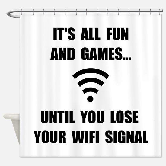 Lose Your WiFi Shower Curtain