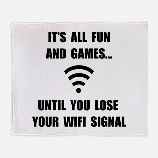 Lose Your WiFi Throw Blanket