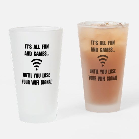 Lose Your WiFi Drinking Glass