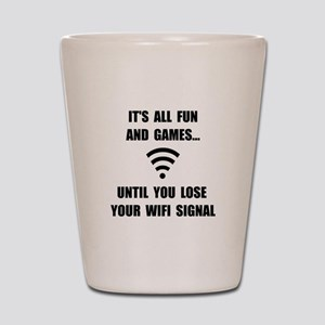 Lose Your WiFi Shot Glass