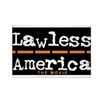 Lawless America Movie Logo Rectangle Magnet