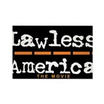 Lawless America Movie Logo Rectangle Magnet (10 pa
