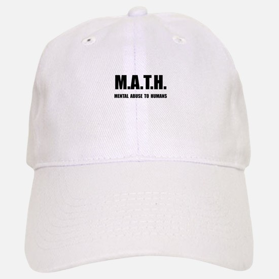 Math Abuse Baseball Baseball Cap