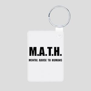 Math Abuse Aluminum Photo Keychain