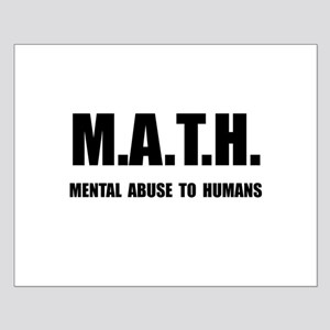 Math Abuse Small Poster