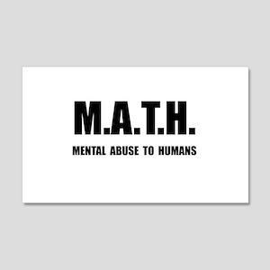 Math Abuse 20x12 Wall Decal