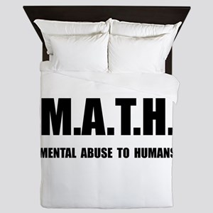 Math Abuse Queen Duvet