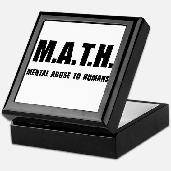 Math Abuse Keepsake Box
