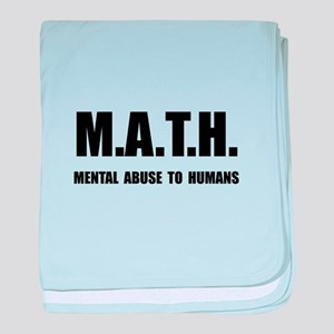 Math Abuse baby blanket