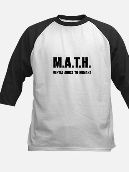 Math Abuse Kids Baseball Jersey
