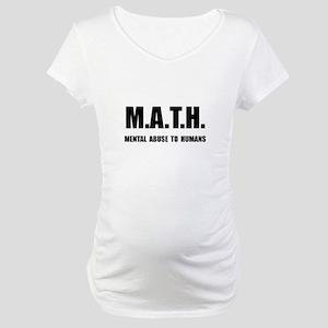 Math Abuse Maternity T-Shirt