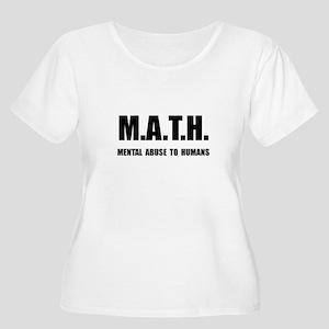 Math Abuse Women's Plus Size Scoop Neck T-Shirt