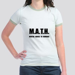 Math Abuse Jr. Ringer T-Shirt