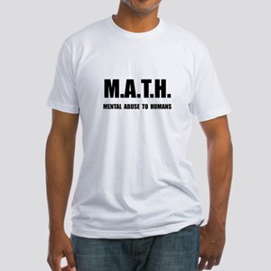 Math Abuse Fitted T-Shirt